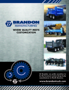 TE 2014 Brandon Manufacturing Product Catalogue 1